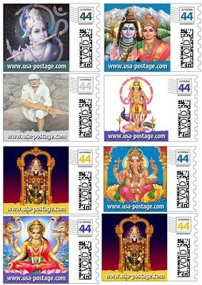 Hindu Deities on United States Postage Stamps