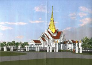 Wat Nawamintararachutis will be the largest Buddhist temple in New England