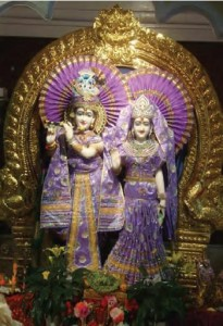 Idol (also called Murthy) of Radha and Krishna situated in a Hindu Temple