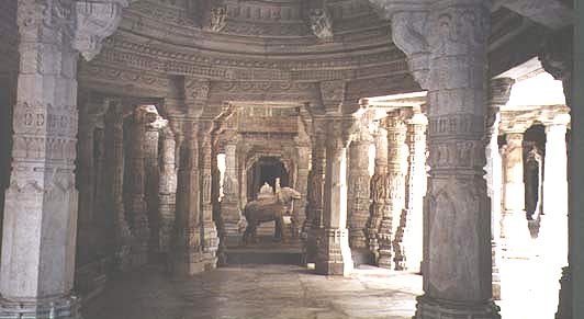 A Jain Temple Interior in India