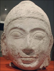 The head of Lord Buddha statue that was on the display. [Courtesy National Museum, Maldives]