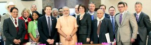 USA House of Representatives and Business delegation meet Gujarat CM Narendra Modi in Gandhinagar on March 28, days after Wharton's WIEF event.