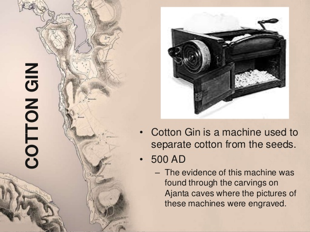 Cotton Gin origins from Ancient India