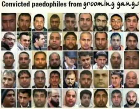 Grooming Gangs in the UK run by mostly Pakistani or Arab immigrants or diaspora have been growing drastically lately
