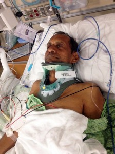 Sureshbhai Patel was badly beaten by an Alabama police officer