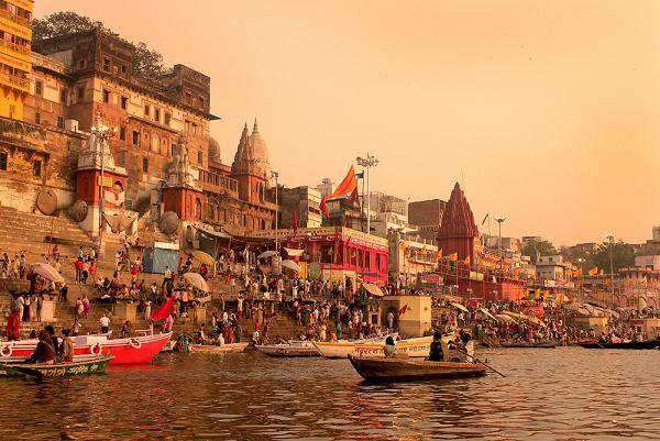 The Ancient and Vibrant Holy Hindu City of Varanasi off the Ganga River