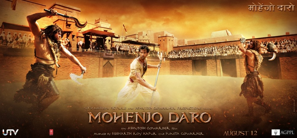 An official poster of the Bollywood movie Mohenjo-Daro starring Hritik Roshan