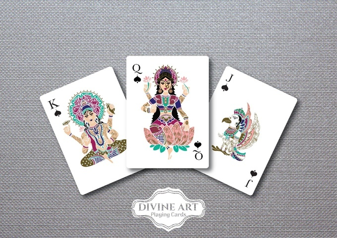 Card game with Hindu symbolism - Divine Art Playing Cards