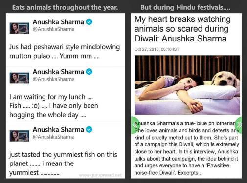 Open Letter to Anushka Sharma (and the Hypocritical 'Animal Eating' and 'Animal Loving' Dimwits of Bollywood)
