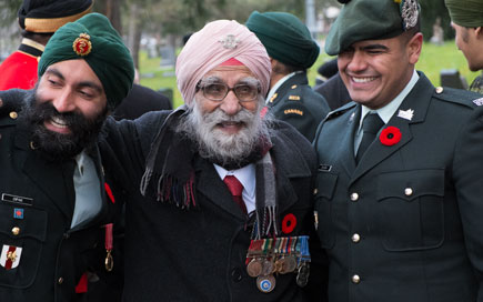 Over 65,000 Sikh soldiers fought in WWI as part of the British Army and Sikhs continue to serve the British Army in high numbers