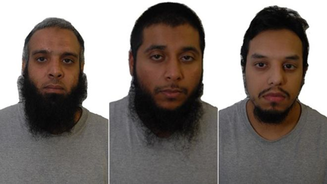 British Islamists Naweed Ali, Khobaib Hussain and Mohibur Rahman pleaded guilty to terrorism charges in 2012