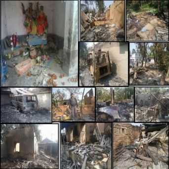 Muslims Torch and Loot 200 Hindu Homes in West Bengal (Images)